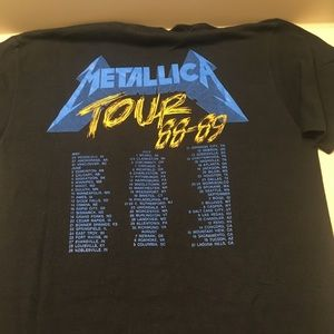dfec1321f tee jays Shirts | Metallica And Justice For All Damaged Justice Tour ...